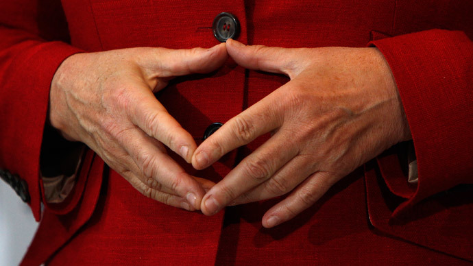 Merkel s diamond chancellor s trademark hand gesture gets its own