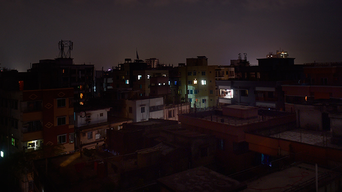 A general view shows Dhaka during a power blackout on November 1, 2014 (AFP Photo / Munir uz Zaman)