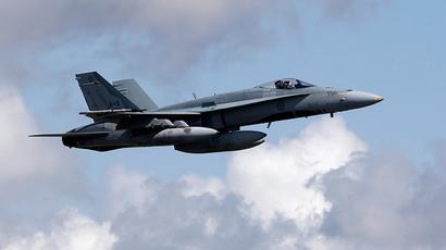 A Canadian Air Force jet CF-18 (Reuters / Ints Kalnins)