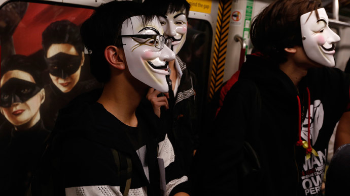Riot police on standby for London Million Mask March