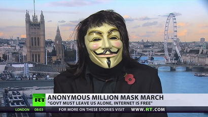'Nowhere to hide, we're everywhere!' Global Million Mask March as it happened (VIDEOS)