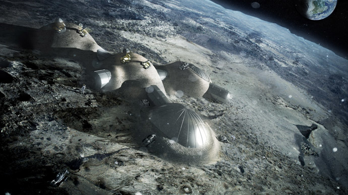 A possible image of a base on the moon (Image from www.esa.int)