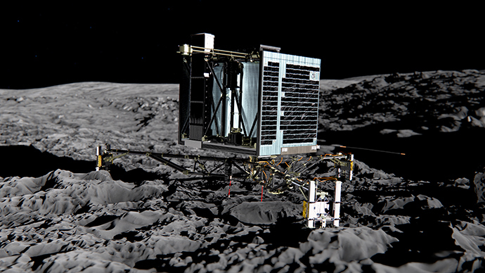 First #CometLanding in history as Rosetta's Philae touches down