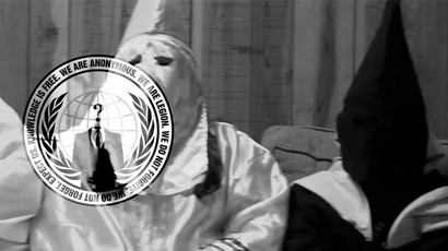 'We will hunt you down': KKK threatens to shoot Anonymous 'n***** lovers'