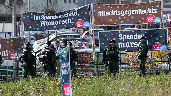 German neo-Nazis tricked into holding fundraising walk for anti-fascist charity (VIDEO)