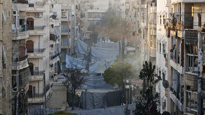 A general view shows the Zeno street frontline in Aleppo November 18, 2014. (Reuters/Hosam Katan)