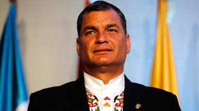 Ecuador's President Rafael Correa.(Reuters / Jorge Dan Lopez)
