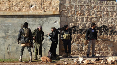 Rebel fighters in the northern Syrian Aleppo province. (AFP Photo/Mohamed Zeen)