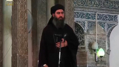 A man purported to be the reclusive leader of the militant Islamic State Abu Bakr al-Baghdadi (Reuters / Social Media Website via Reuters TV)