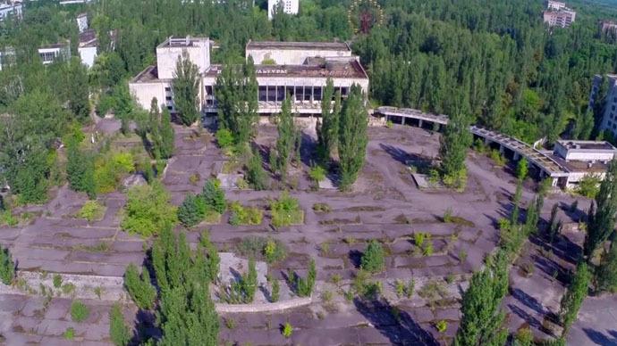 Haunting: Rare Chernobyl drone footage reveals devastation in Pripyat exclusion zone