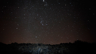 A general view of the Geminid meteor shower. (AFP Photo/Desiree Martin)