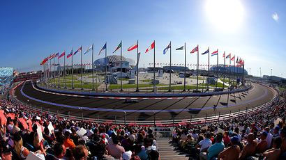 Sochi Autodrom's track during the 2014 Formula 1 Russian Grand Prix (RIA Novosti /  Vitaliy Belousov)