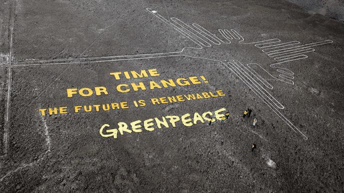 Greenpeace activists 'damage' ancient Nazca lines, Peru to seek criminal charges