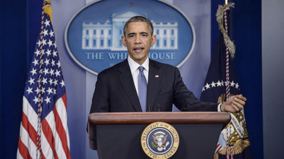 US President Barack Obama speaks during a press conference in the briefing room of the White House December 19, 2014 in Washington, DC. (AFP Photo)