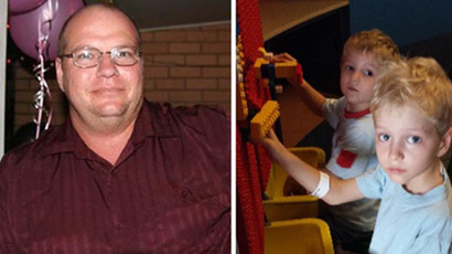 Steven Van Lonkhuyzen, 37, and his two sons, Ethan, 7 and Timothy 5. (Photo by Queensland Police Service)