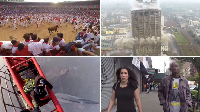 Shanghai vertigo, street mugging & running with bulls: 2014 in most gripping GoPro videos