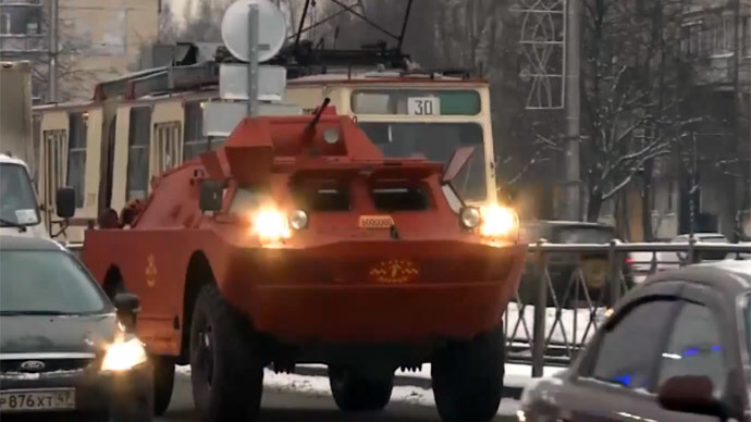 Need an armored military-grade taxi? Flag one down in St. Petersburg (VIDEO)