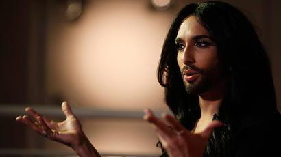 Austrian drag queen and 2014 European song contest winner Conchita Wurst (Reuters / Leonhard Foeger)