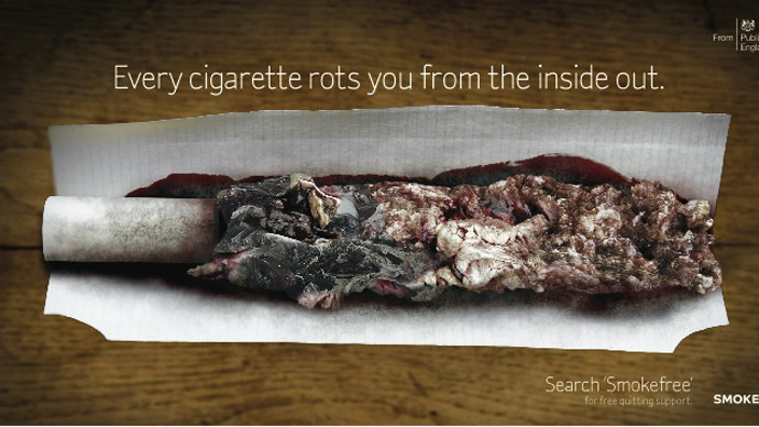 Rotting The Body From The Inside Out Graphic Anti Smoking Campaign Rt Uk