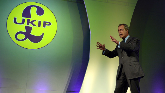 Leader of the UK Independence Party, (UKIP) Nigel Farage. (AFP Photo/Nigel Roddis)