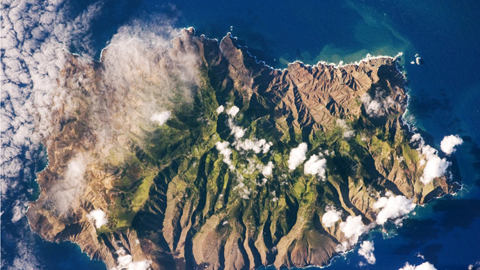 Saint Helena seen from space (Photo from Wikipedia.org)