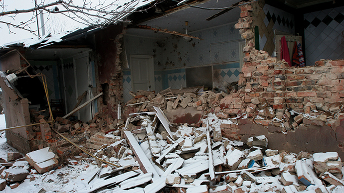 A private house in Petrovsky District of Donetsk damaged in the result of shelling by Ukrainian army (RIA Novosti / Igor Maslov)