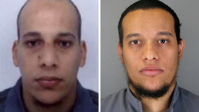 Cherif Kouachi (L), aged 32, and his brother Said Kouachi (R), aged 34.(AFP Photo / French Police)