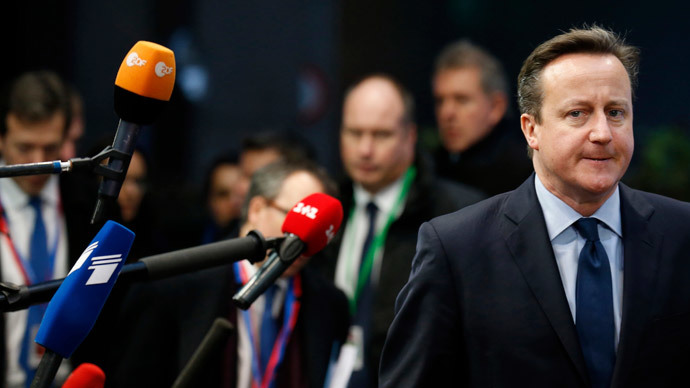 Britain's Prime Minister David Cameron.(Reuters / Pascal Rossignol)