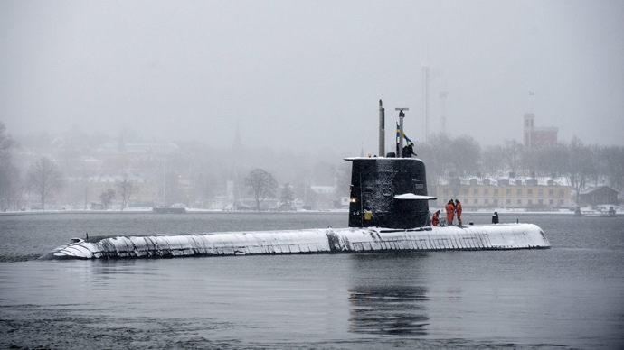 Swedish submarine HMS Halland (Reuters / Scanpix / Henrik Montgomery)