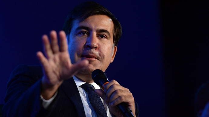 Former President to the Republic of Georgia, Mikheil Saakashvili.(AFP Photo / Leigh Vogel)