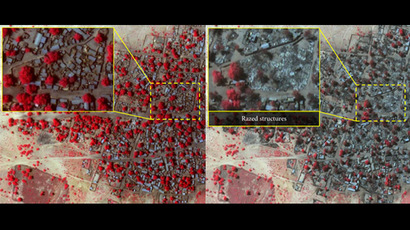 Satellite image showing the extent of damage in Doron Baga taken on 7 Jan 2015, following an attack by Boko Haram. (DigitalGlobe)