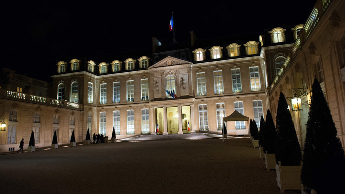 The Elysee presidential Palace in Paris. (AFP Photo/Bertrand Langlois)