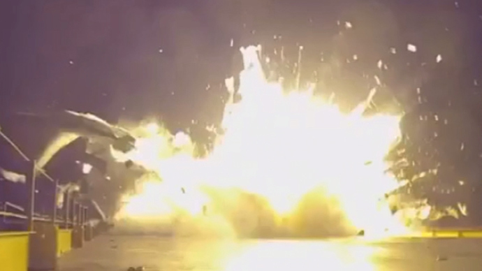 'Rapid unscheduled disassembly': SpaceX releases video of Falcon 9 crash-landing