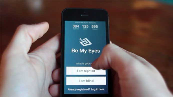 Thousands sign up to assist blind via new 'Be My Eyes' app