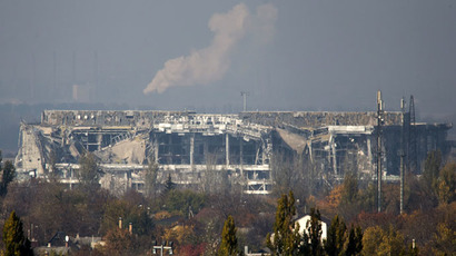 The damaged main terminal of the Donetsk Sergey Prokofiev International Airport (Reuters/Shamil Zhumatov)