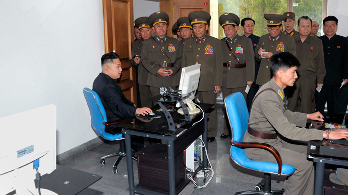 North Korean leader Kim Jong-un looks at a computer screen in this picture released by the North's official KCNA news agency in Pyongyang (Reuters / KCNA)