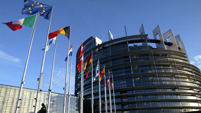European Union member states' flags flying in front of the building of the European Parliament in Strasbourg. (Reuters / Vincent Kessler / File)