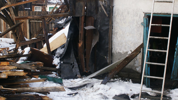 A house destroyed during shelling in Donetsk. (RIA Novosti / Mikhail Parhomenko)