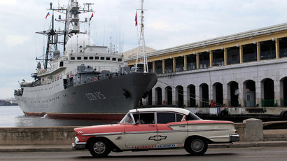 A Russian spy ship Viktor Leonov at the port in Havana, January 20, 2015. (Reuters / Stringer)