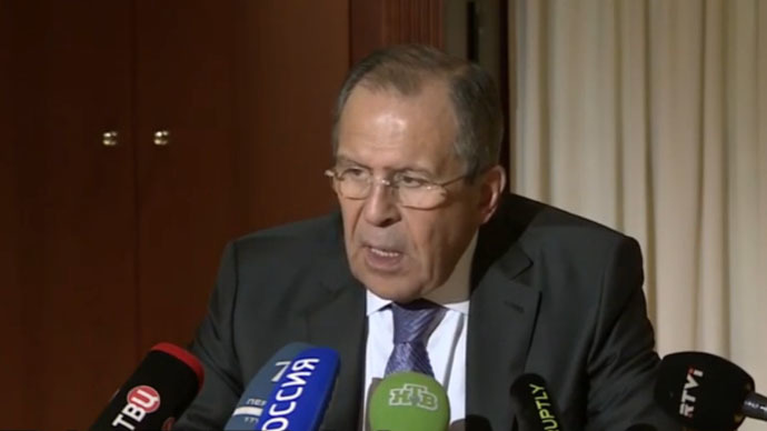 Russian Foreign Minister Sergey Lavrov (Still from Ruptly video)