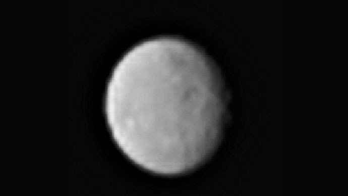 This processed image, taken Jan. 13, 2015, shows the dwarf planet Ceres as seen from the Dawn spacecraft. (NASA/JPL-Caltech/UCLA/MPS/DLR/IDA)