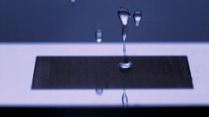 New Laser Technique Turns Metals Totally Water Repellent
