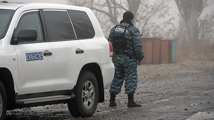 'No military equipment' crossed at observed Russia-Ukraine border checkpoints - OSCE