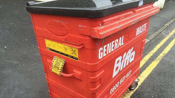 Wheelie bin ticketed for 'rubbish parking'
