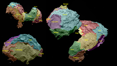 Comet regional maps (Image from esa.int)