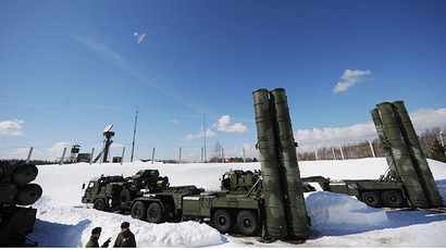 "Anti-aircraft missile system S400 ""Triumph"" at a site in the Moscow region. (RIA Novosti/Grigoriy Sisoev)"