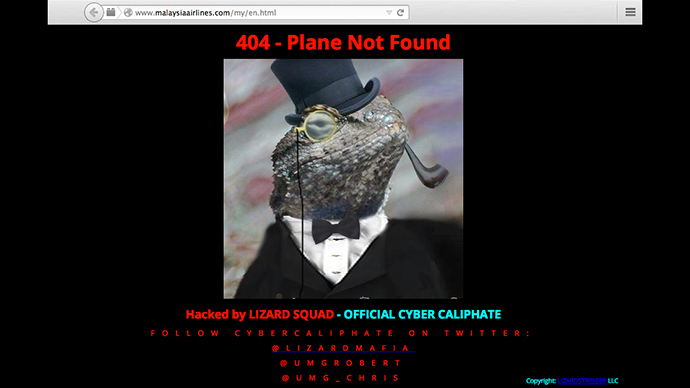 Malaysia Airlines website 'Hacked by Cyber Caliphate'