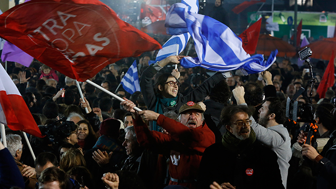 'If they can do it in Greece, we can do it here!' British left stage Greek embassy demo