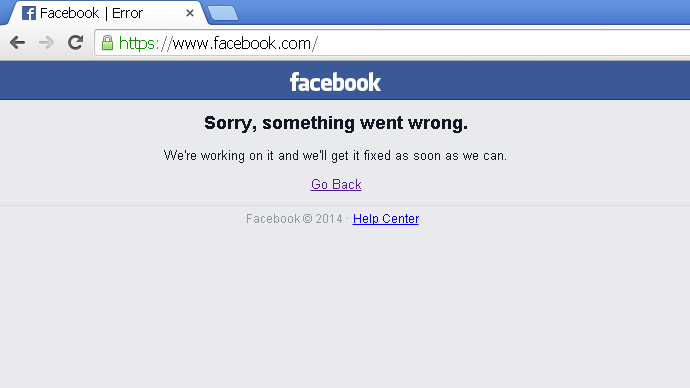 facebook chat down down baby