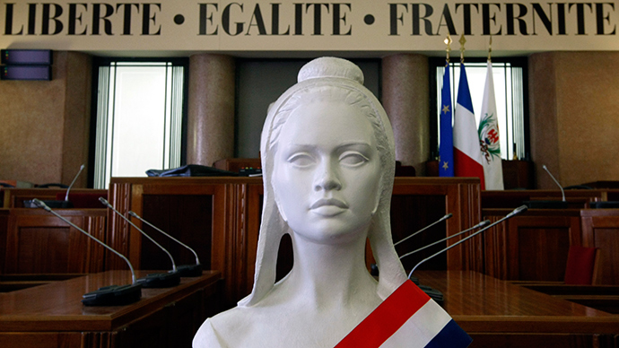 "A ""Marianne"" bust, the symbol of the French Republic (Reuters / Eric Gaillard)"